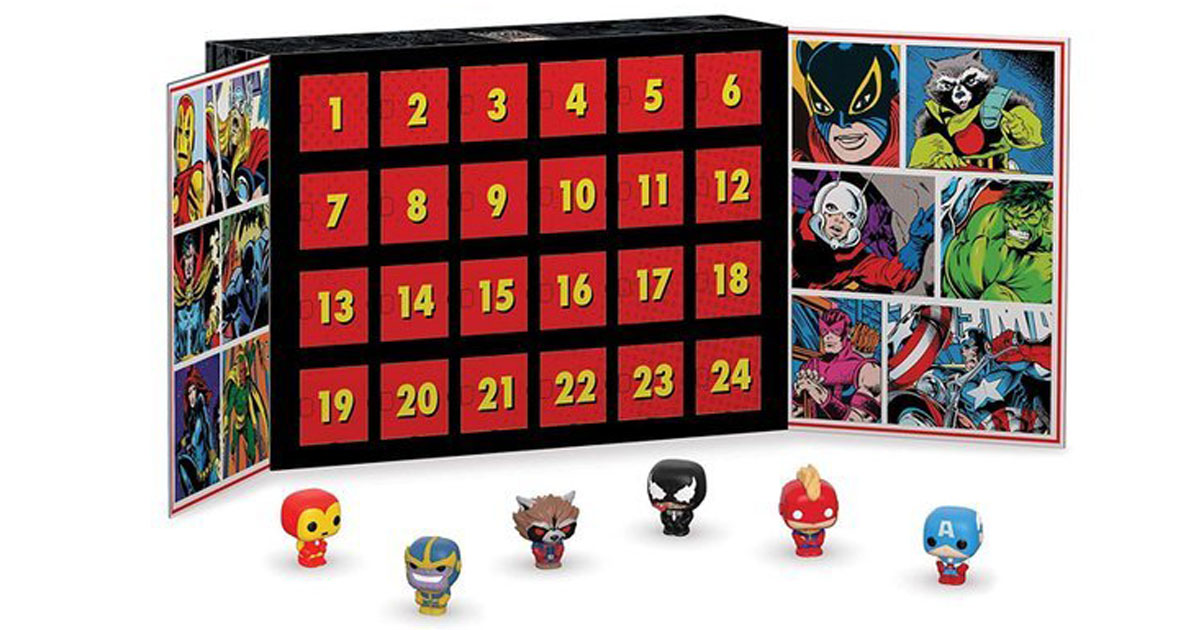 marvel funko POP advent calendar stock image