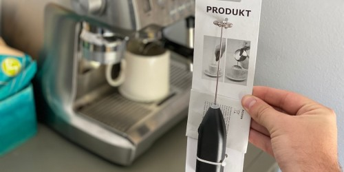 This IKEA Milk Frother Makes Perfect Foam & is Less Than a Starbucks Drink