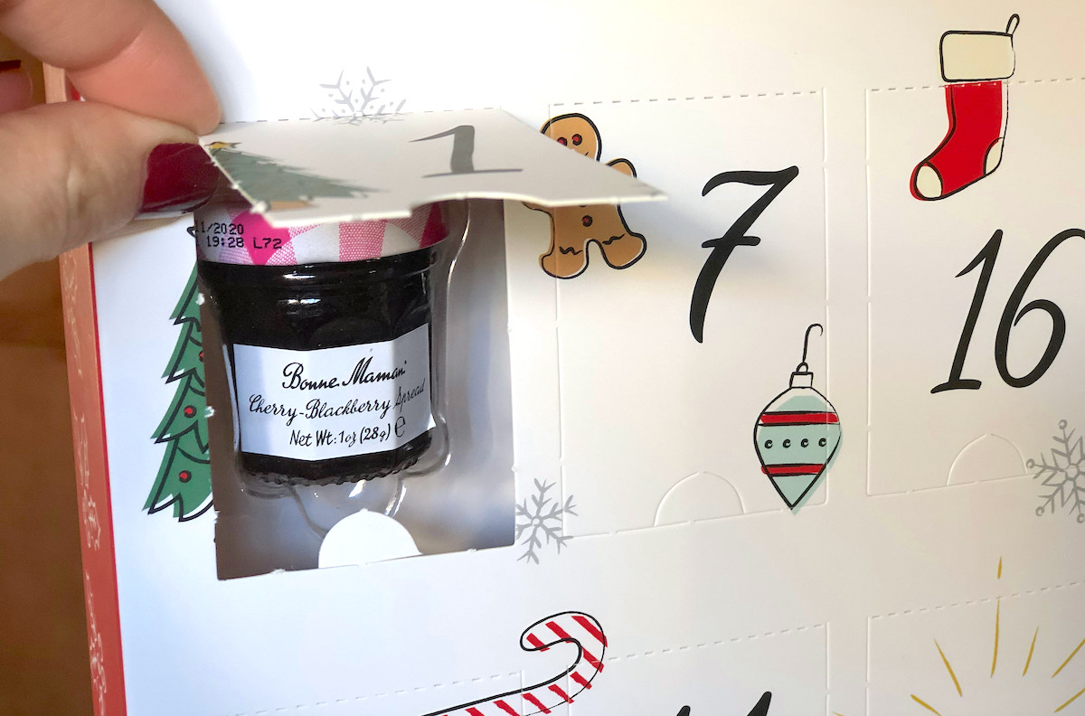 mini jam in advent calendar box