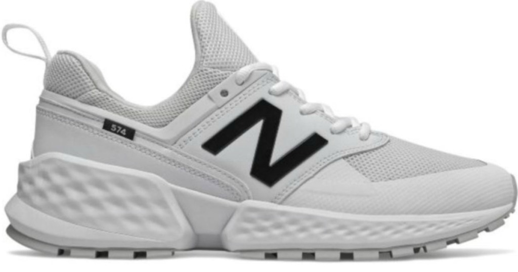 white shoes with N on it for logo