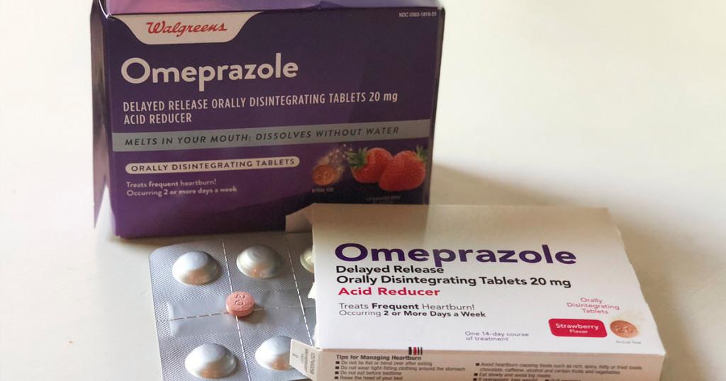 walgreen's omeprazole heartburn tablets