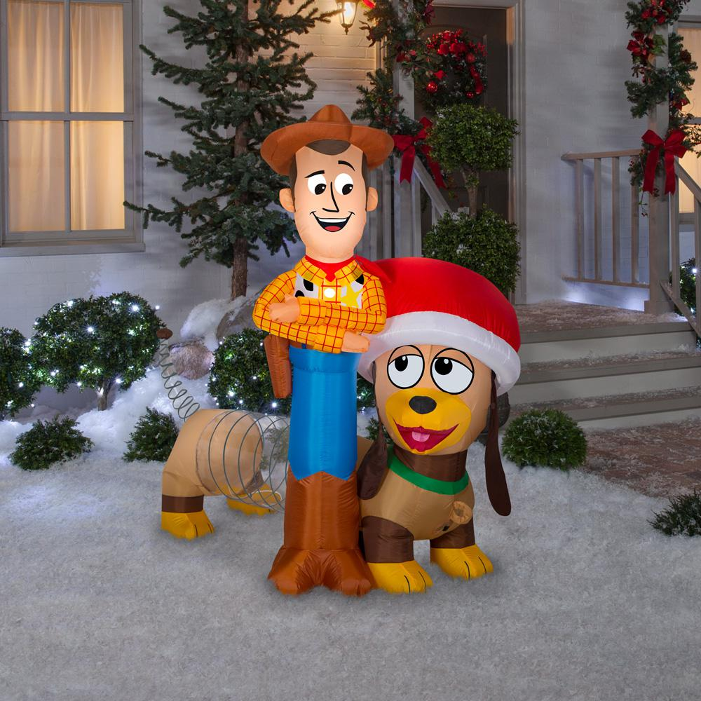 woody and slinky inflatable