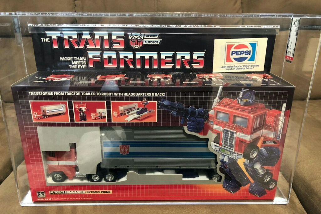 transformers box with optimus prime inside