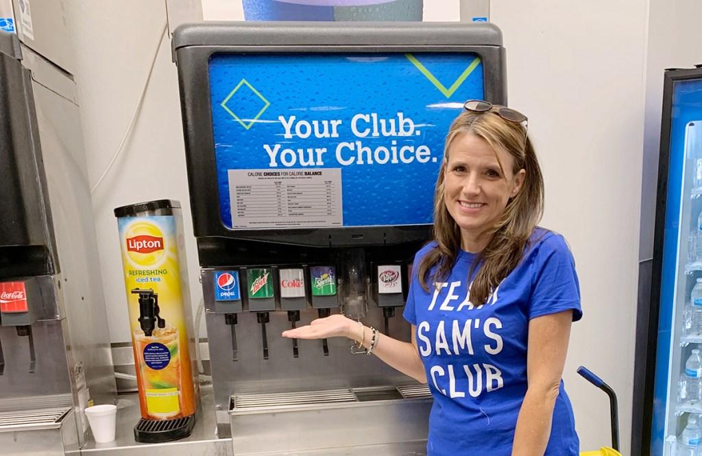 Paige by Diet Coke soda dispenser