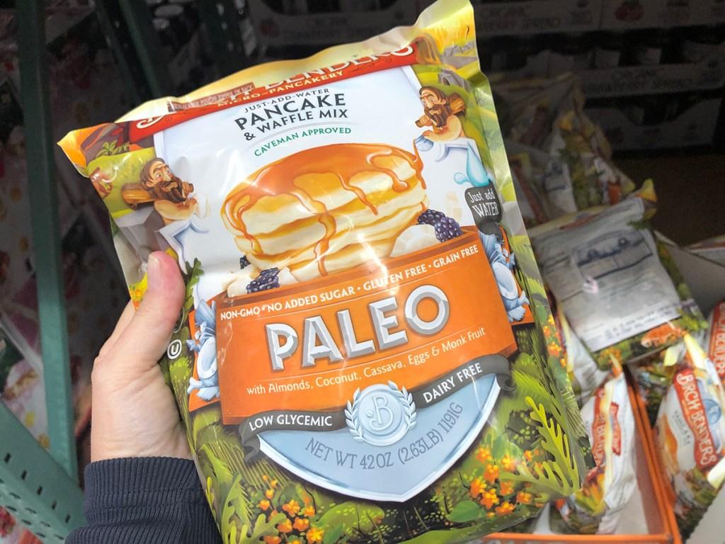 Paleo pancake mix at Costco