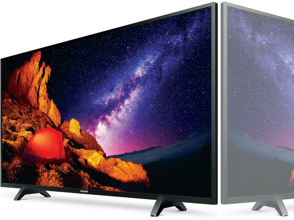 tv with picture of night sky