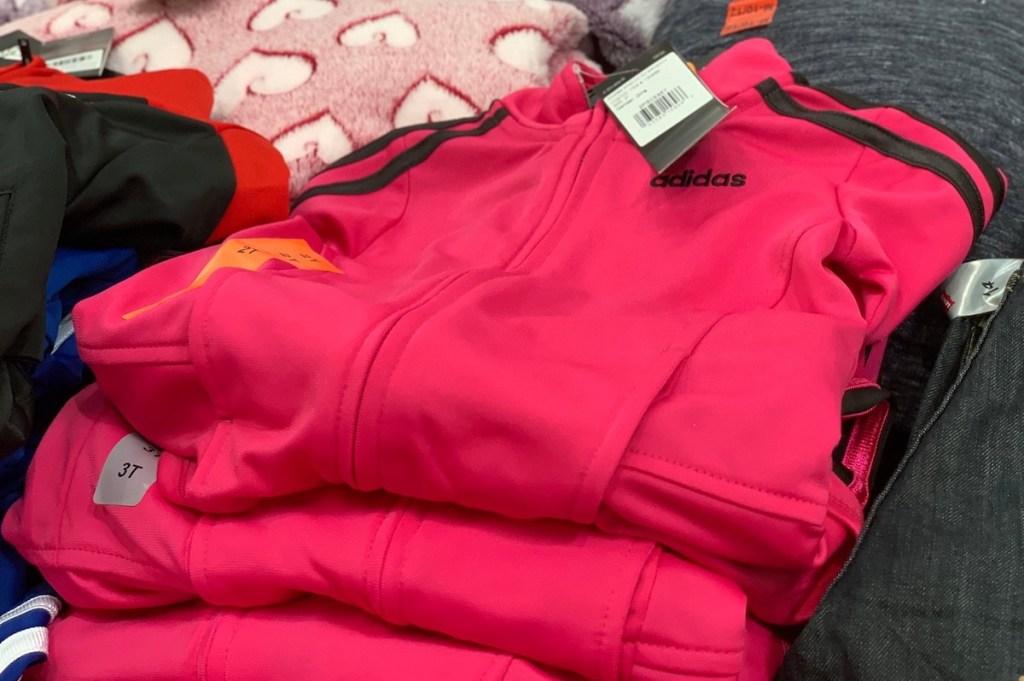 hot pink and black adidas jacket