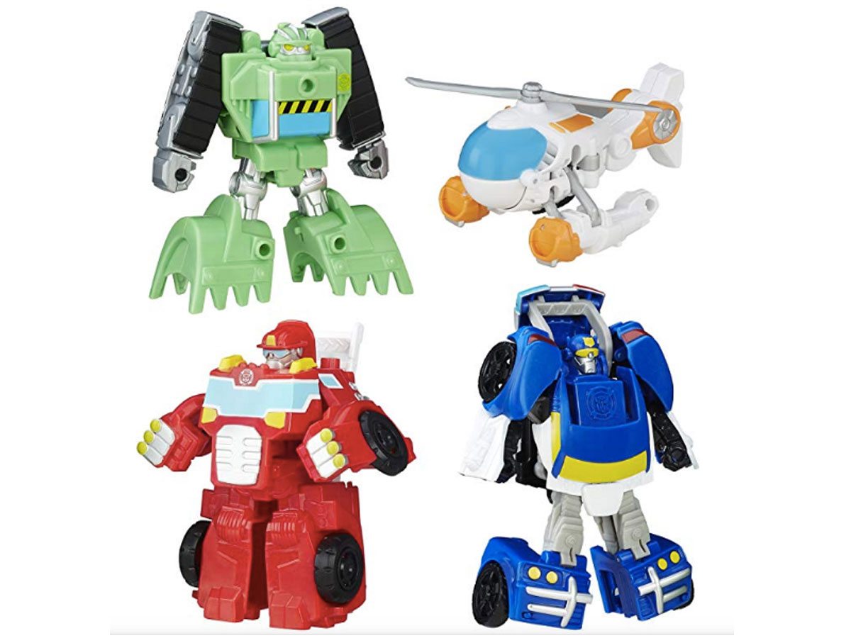four individual rescue bots