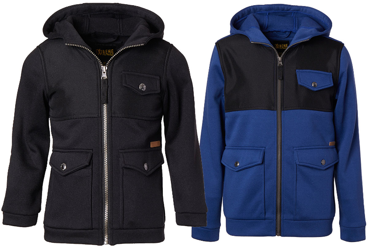 pocket jackets available for boys and toddlers