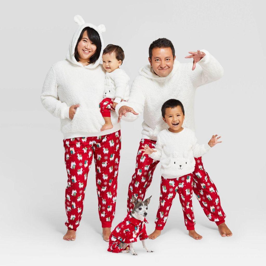 llama Family Pajamas