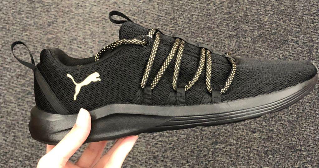 puma black Prowl Alt Knit Mesh Women's Running Shoes