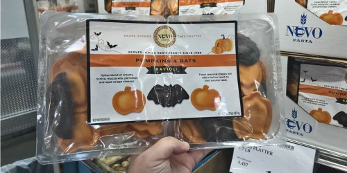 Pumpkins & Bats Ravioli Available at Costco | Fun Halloween Dinner Idea