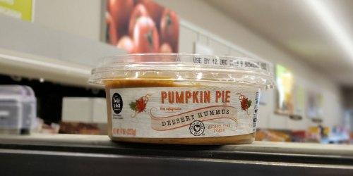New ALDI Pumpkin Pie & Sea Salt Caramel Dessert Hummus   Gluten-Free & Vegan