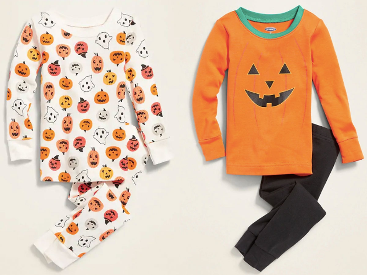 old navy pumpkin pajamas