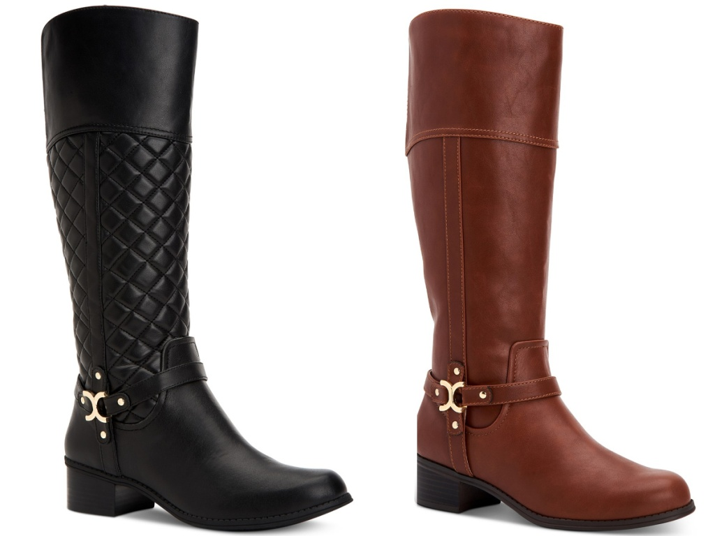 black and brown charter boots