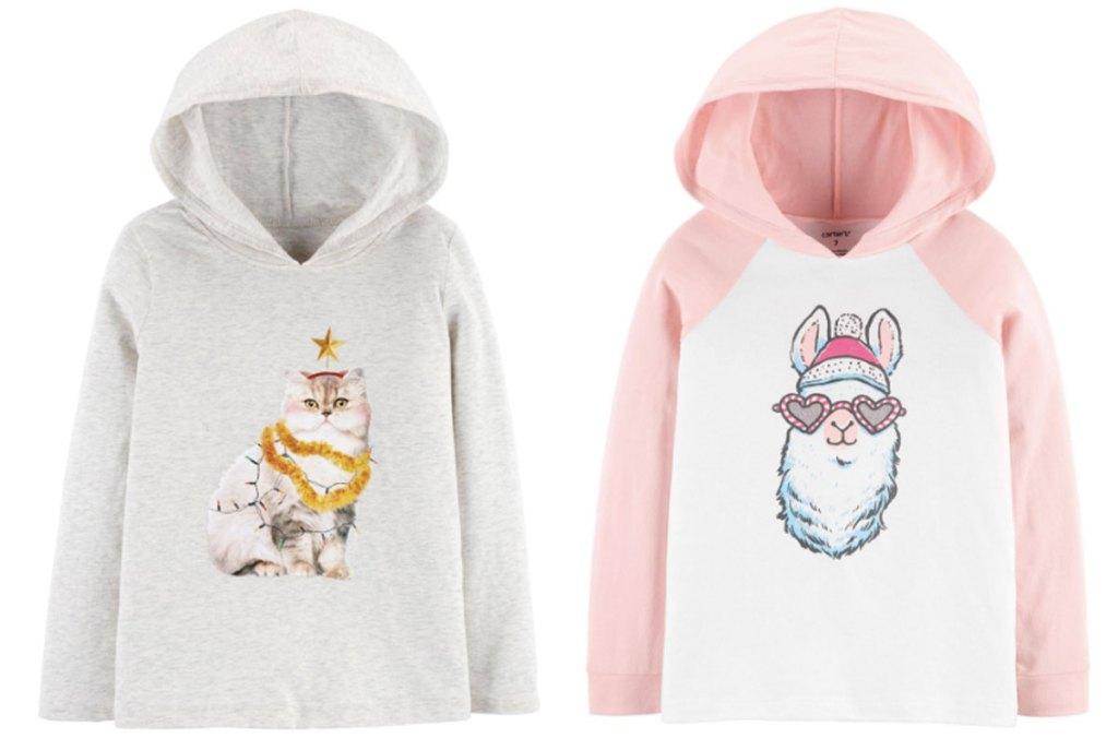 girls christmas hoodies