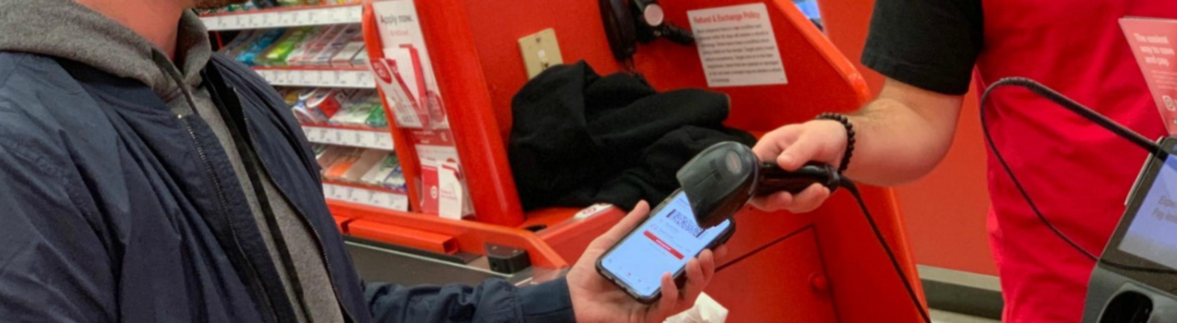 scanning Target circle offer on phone