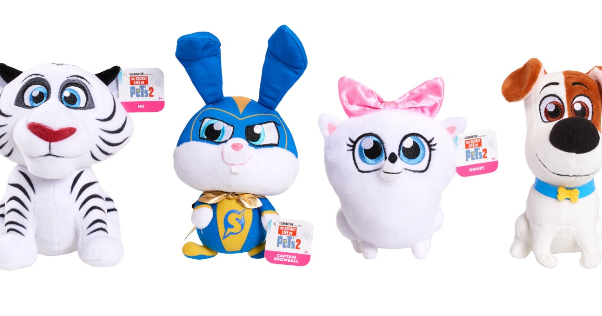 Secret Life of Pets 2 Plush Toys 4-Pack Just $4.99 at Walmart.com (Regularly $20)