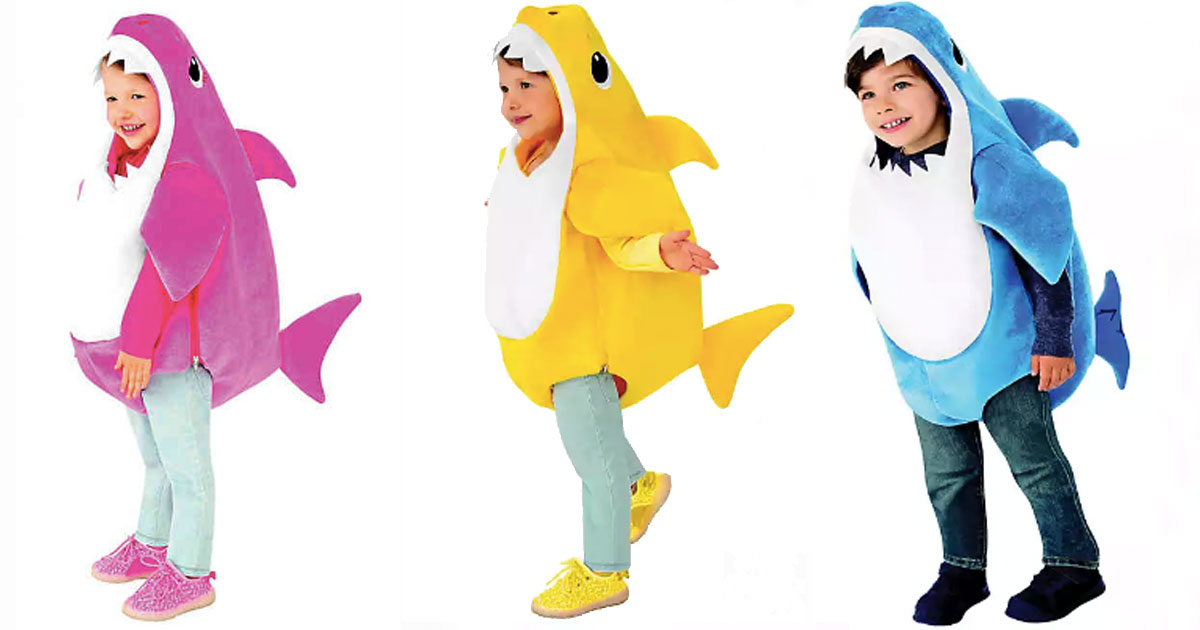 Pink Fong shark costumes