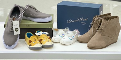 Up to 55% Off Shoes for the Family at Target | In-Store & Online