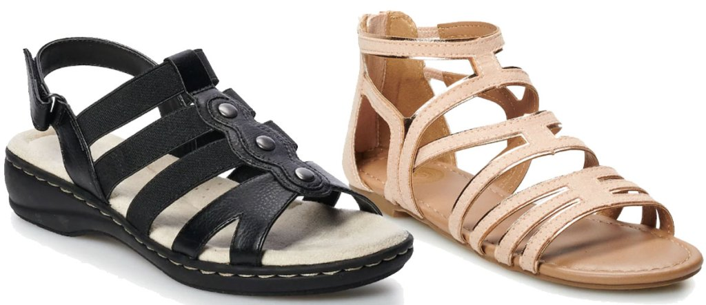 sandals on clearance at kohls
