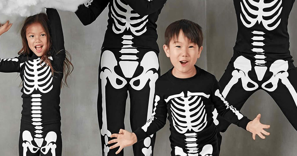 Old Navy Skeleton tees and pajamas