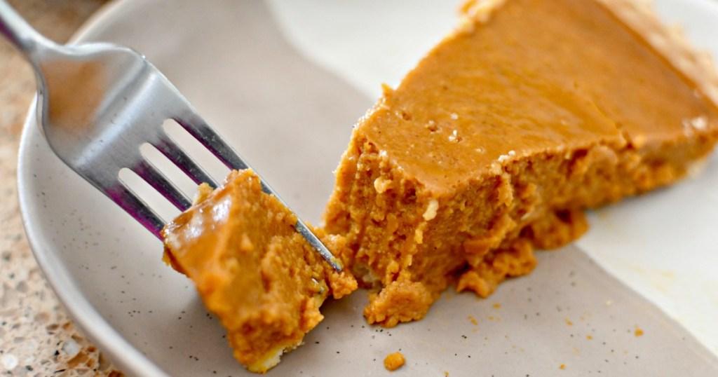 slice of costco pumpkin pie