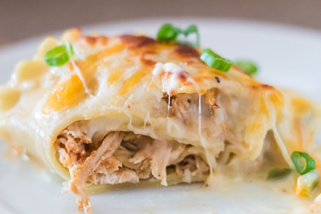 plated lasagna roll up