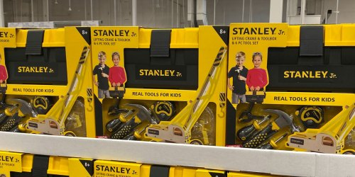 Stanley Junior Kids Tool Set Only $19.99 at Costco   Buildable Crane, Tools & Toolbox