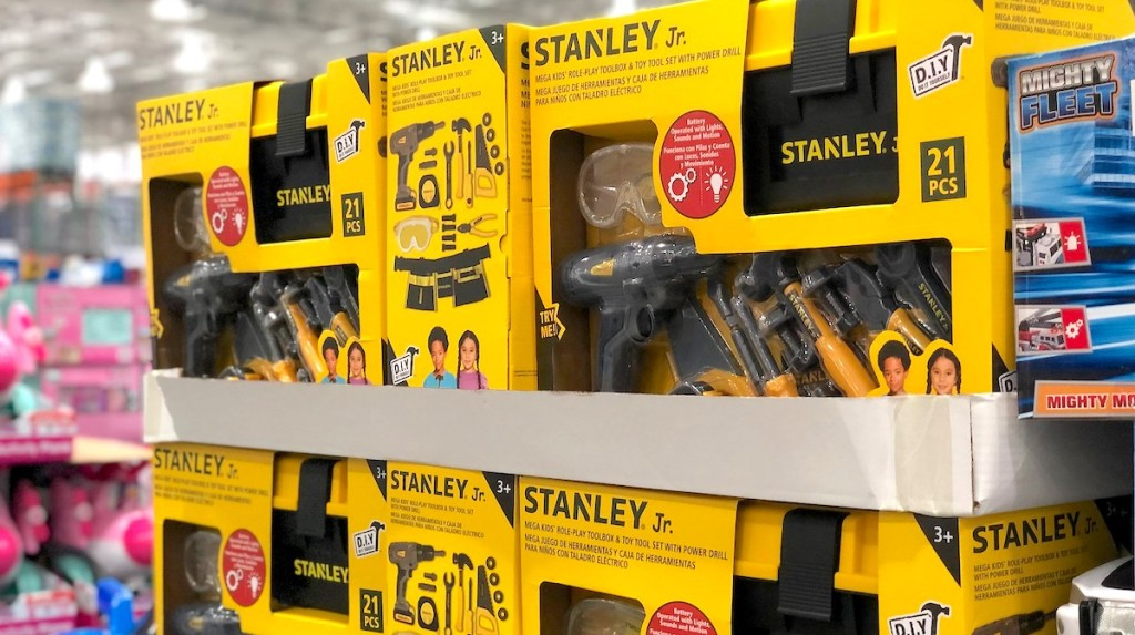 yellow boxes of stanley junior tools