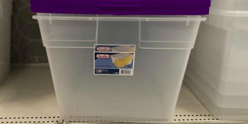 Sterilite 58-Quart Storage Boxes & Lids 8-Pack Only $29.99 at Walmart | Just $3.74 Each