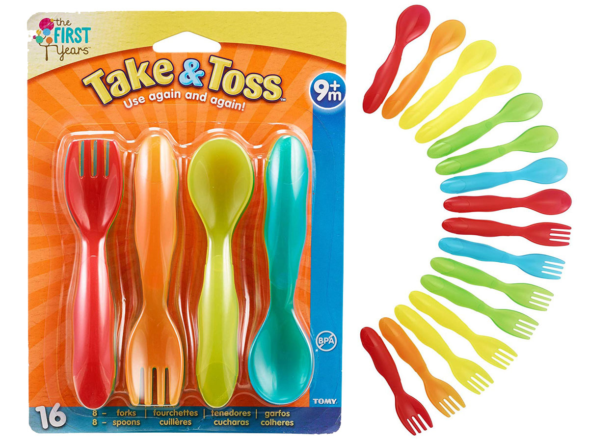 stock image first years take and toss flatware