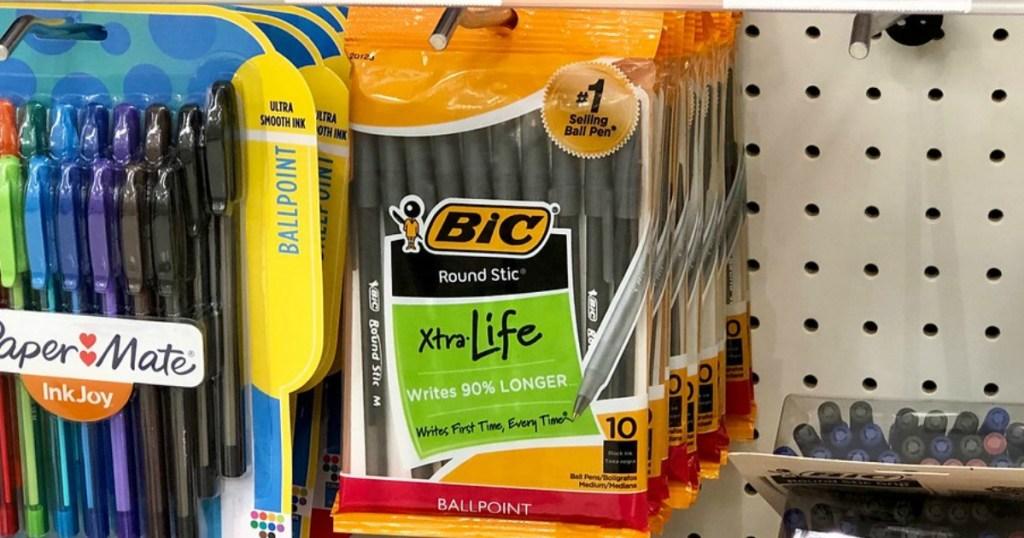 bic xtra life ballpoint pens at target