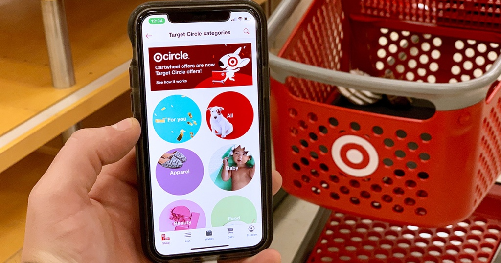 Target Circle app on smartphone