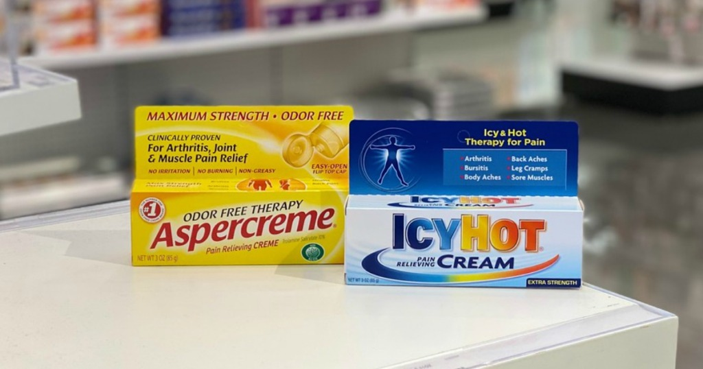 aspercreme and icy hot products at target