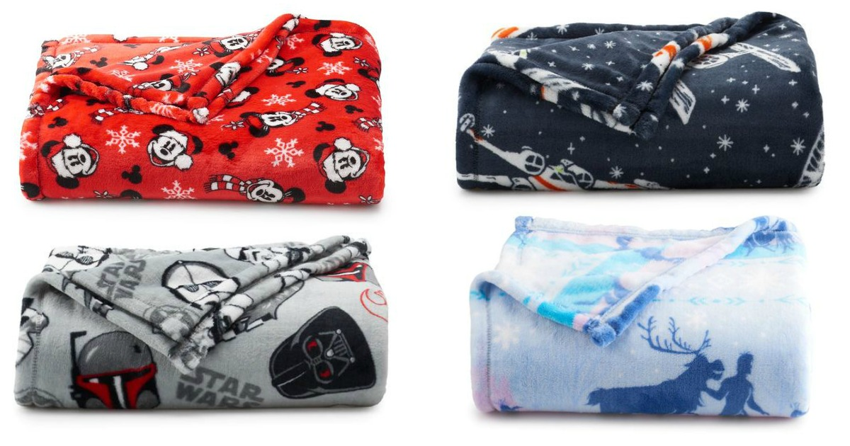 the big one super soft throw blankets in disney and star wars designs