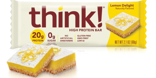 think! High Protein Bars 10-Pack as Low as $6.61 Shipped at Amazon | Just 66¢ Per Bar