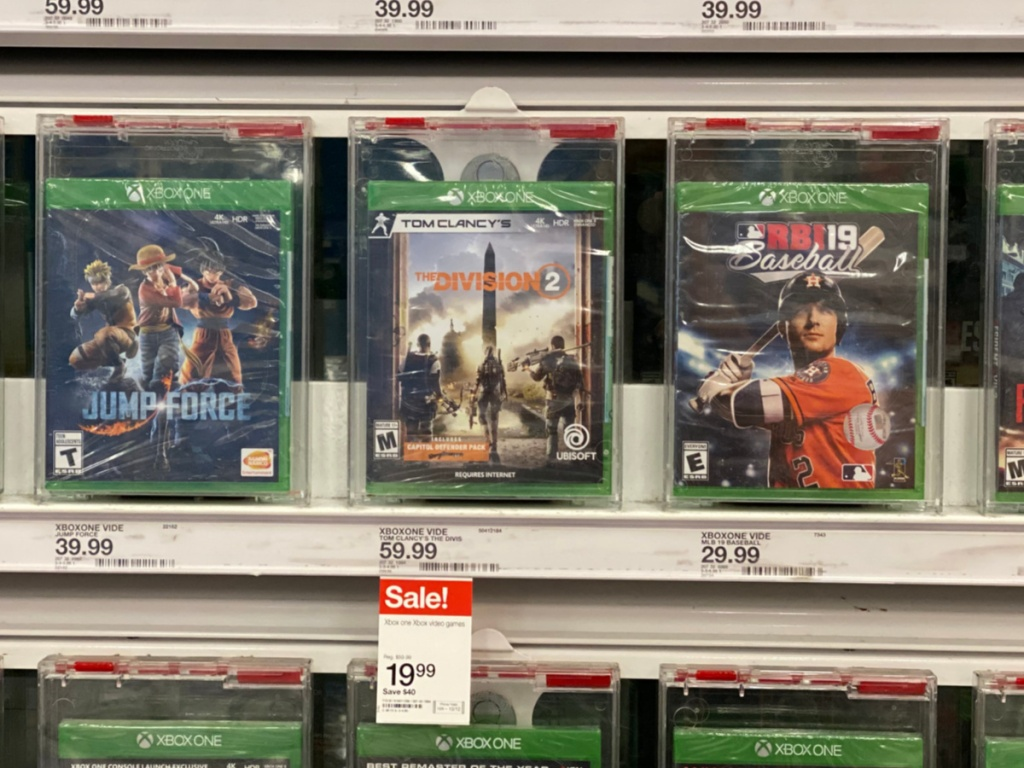 tom clancy's the division 2 video game on store shelf