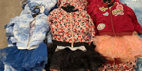 Disney Girls 3-Piece Outfits Just $19.99 at Costco | Includes Jacket, Tutu & Top