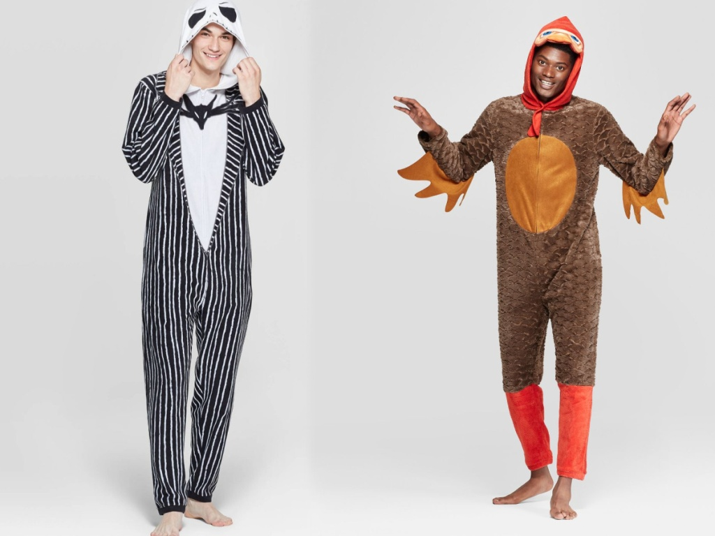 mens nightmare before xmas and turkey union suits
