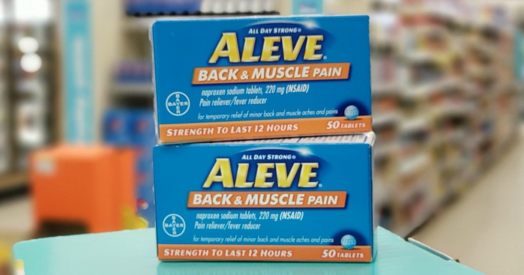 aleve back & muscle pain reliever at walgreens