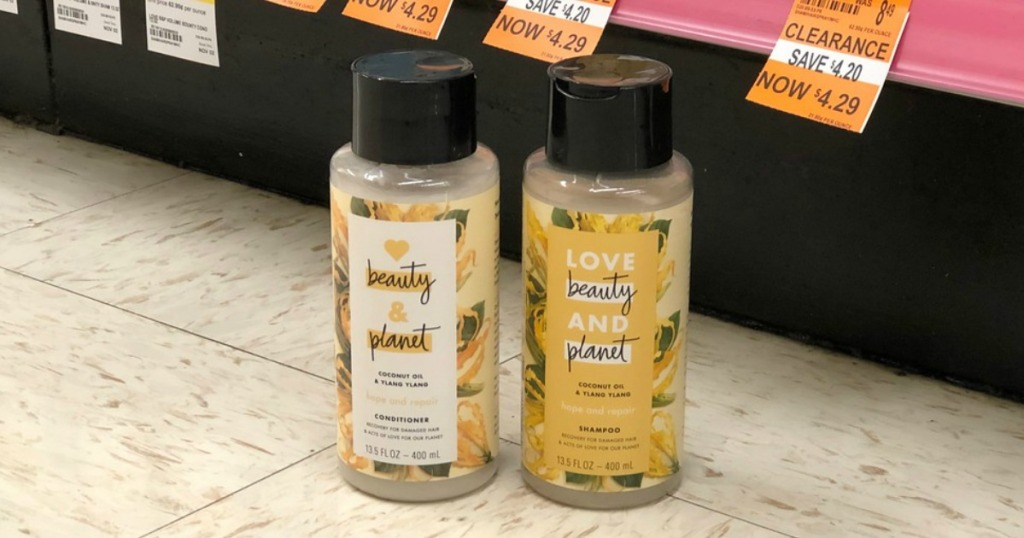 love beauty and planet shampoo and conditioner on clearance at walgreens