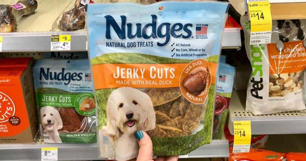 nudges dog treats at walgreens