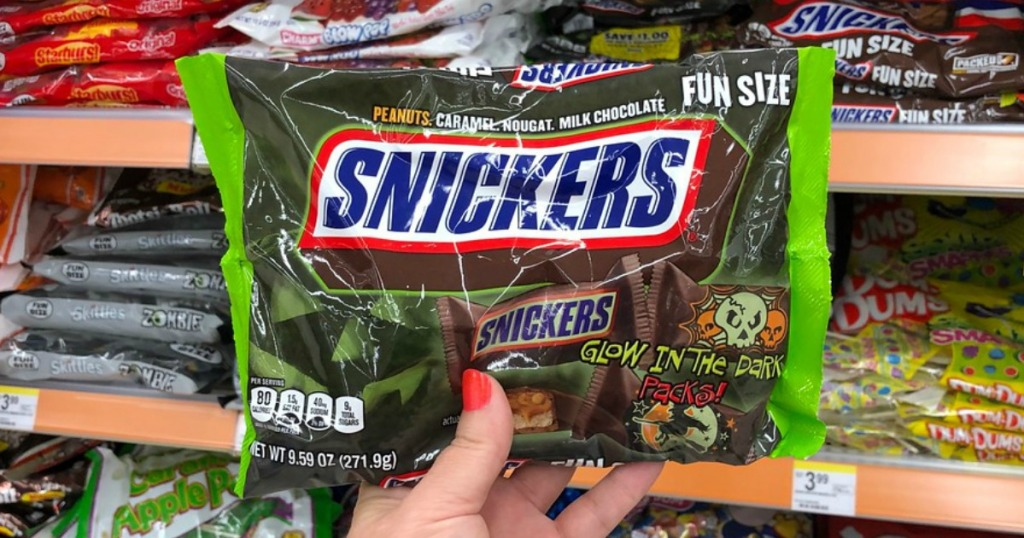 snickers fun size halloween candy at walgreens