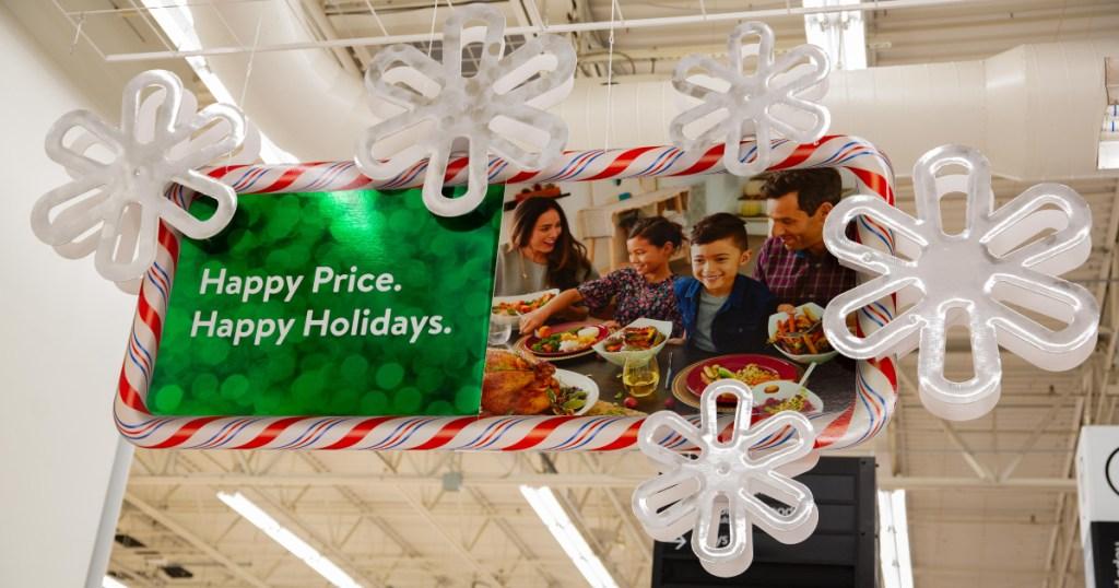 Walmart holiday signage