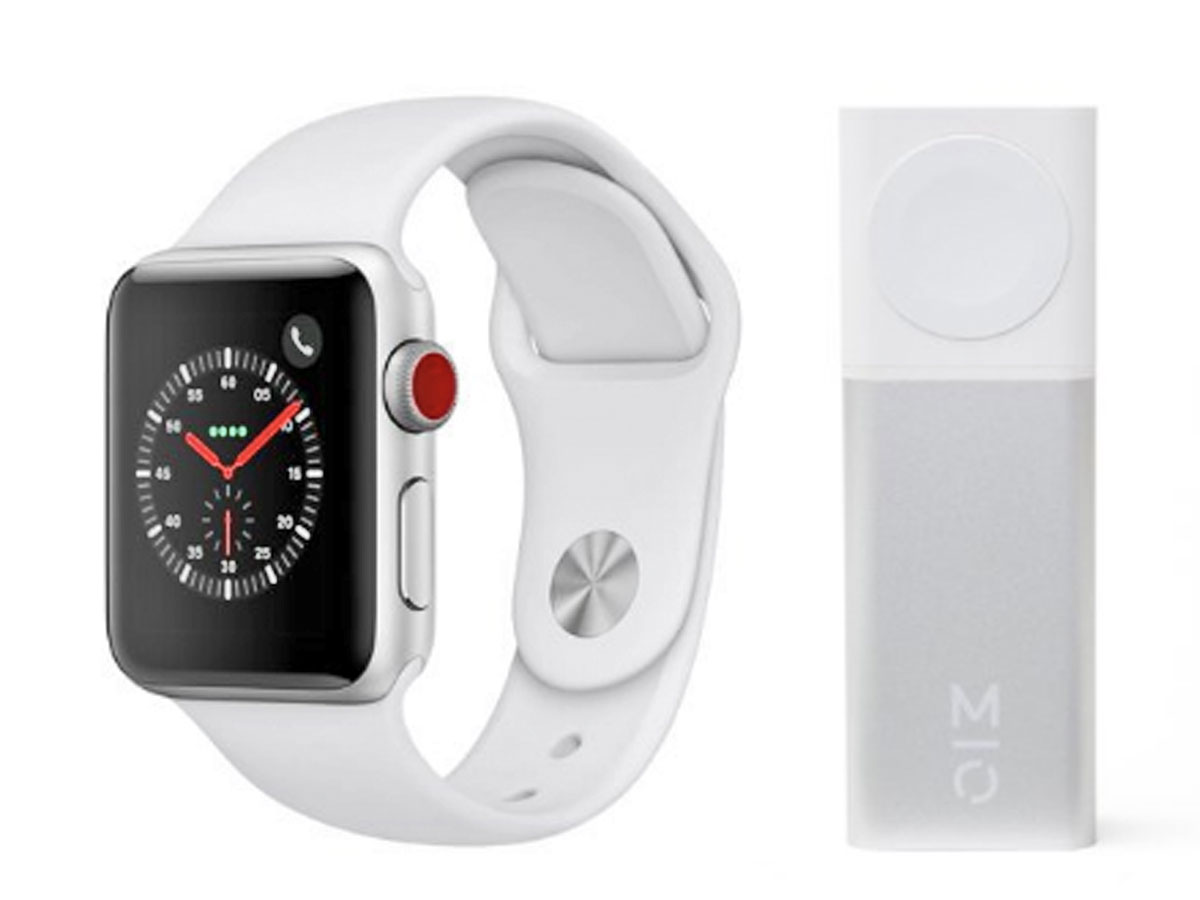 apple series 3 watch with motile power bank