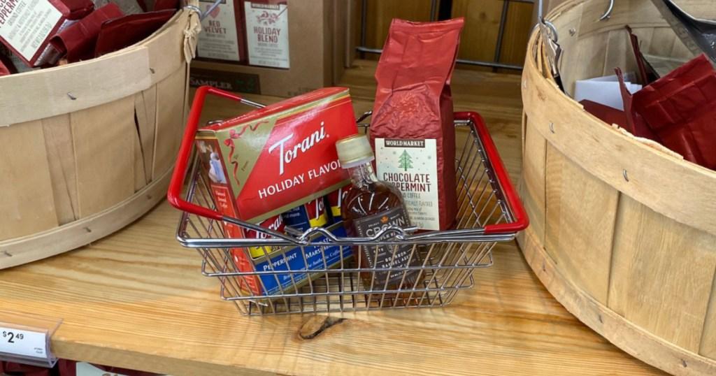 World Market Mini Torani in mini basket