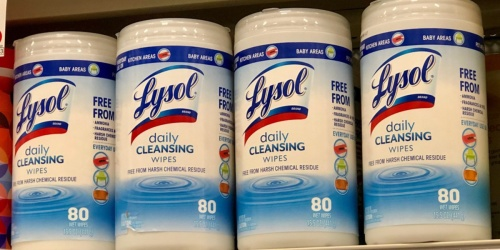 Lysol Daily Cleansing Wipes 240-Count Only $7.40 Shipped at Amazon + More