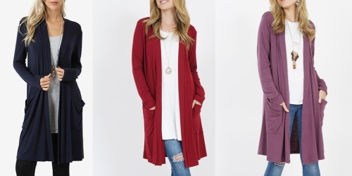 Women's Open Cardigans Only $9.99 at Zulily | 28 Color Options