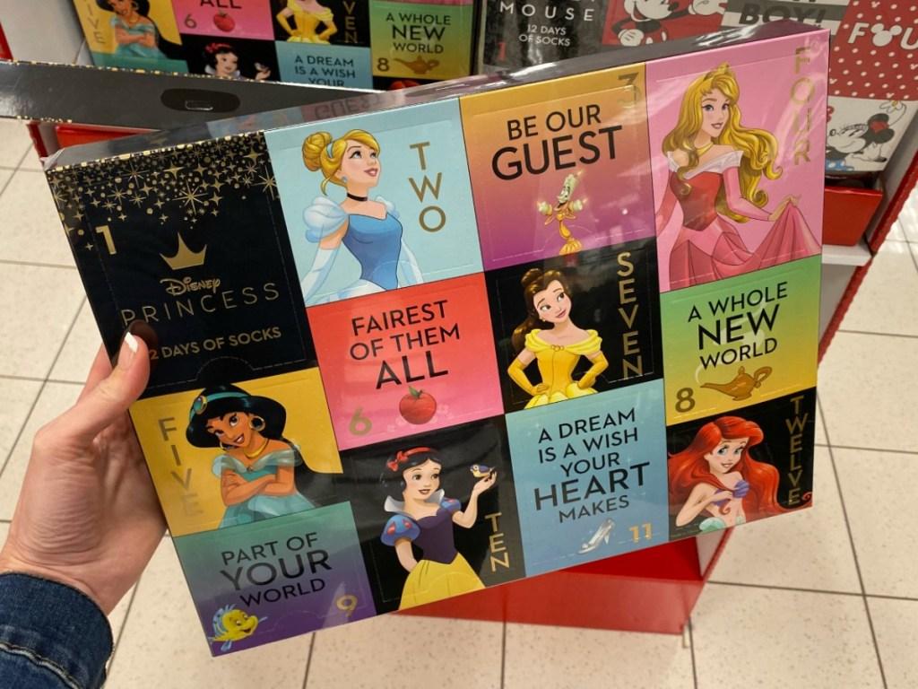 Women's sock advent calendar Disney Princess themed at Kohl's